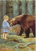 Kleine Olle met beer, Elsa Beskow