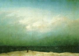 Monnik aan zee, Caspar David Friedrich