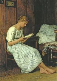 Lezend meisje, Albert Anker
