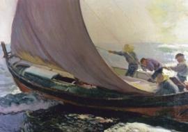 Een windstoot, Joaquin Sorolla Y Bastida
