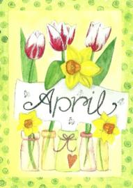 April, maandkaart Inga Berkensträter