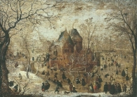 Winterlandschap, Hendrick Avercamp