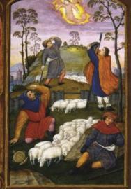 Verkondiging aan de herders, Boekschilderkunst 15de eeuw