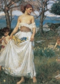 Lied van de lente, John William Waterhouse