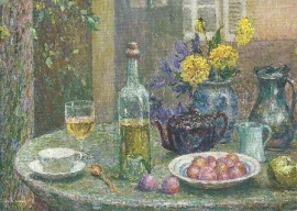 Gele dahlia's, Henri le Sidaner