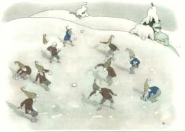 Sneeuwballengevecht, Ernst Kreidolf