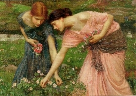 Pluk de rozenknoppen zolang ze bloeien, John William Waterhouse
