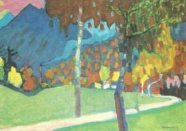 Herfststudie bij Oberau, Wassily Kandinsky