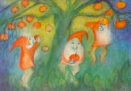 Dwergen bij appelboom, Jula Scholzen Gnad