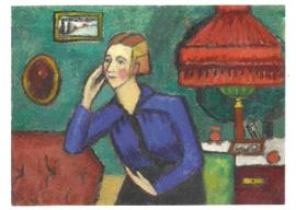 De blauwe blouse, Gabriele Münter