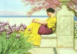 Onder bloeiende twijgen, John William Godward