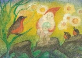 Drie vogels met dwerg, Jula Scholzen Gnad