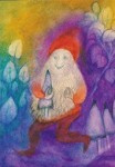 Dwerg met paddenstoel, Jula Scholzen Gnad