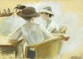 Twee dames aan het water, Max Liebermann