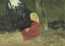 Meisje bij veenkanaal, Paula Modersohn-Becker
