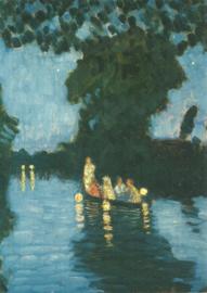 Lampionvaart op de Wümme, Otto Modersohn