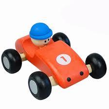 Formule 1 swing auto rood ( houten)
