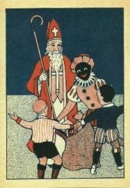 Blije kinderen met Sint en Piet
