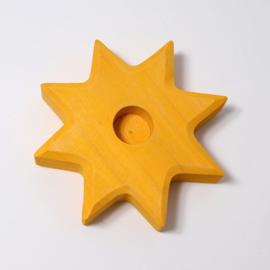 Gele ster (8 cm)