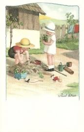 Tuinierende kinderen, Pauli Ebner