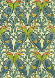 Papegaaien patroon, Charles Voysey