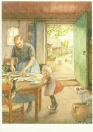In de keuken met poes en kippen, Cornelis Jetses