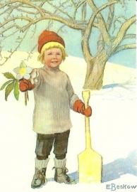 Kind met kerstroos, Elsa Beskow