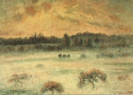 Winterlandschap, Camille Pissarro