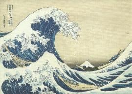De golf bij Kanagawa, Katsushika Hokusai