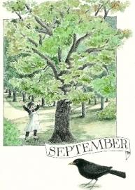 September, maandkaart Lena Anderson