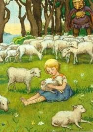 Meisje met lam, Elsa Beskow