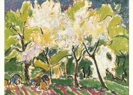 Bloeiende bomen, Ernst Ludwig Kirchner