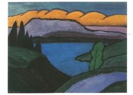 De blauwe zee, Gabriele Münter