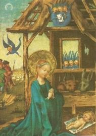 Aanbidding van het kind, Stefan Lochner