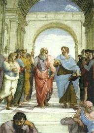Plato en Aristoteles (detail), Rafael