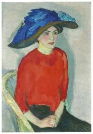 Vrouwenportret in rood, Jan Sluijters