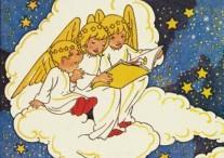 Drie engeltjes lezen boek, Rie Cramer