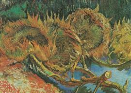 Uitgebloeide zonnebloemen, Vincent van Gogh