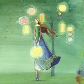 Vrouw met lantaarns, Kristiana Heinemann
