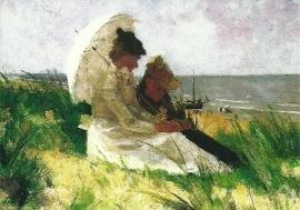Op de duinen in Zandvoort, Ferdinand Hart Nibbrig