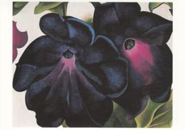 Zwart met violette petunia's, Georgia O'Keeffe