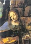 De madonna in de rotsgrot (detail), Leonardo da Vinci