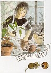 Februari, maandkaart Lena Anderson