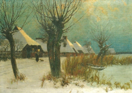 Winter in Bodden, Friedrich Wachenhusen