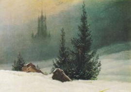 Winterlandschap met kerk, Caspar David Friedrich