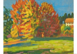 Herfstbomen in Tutzing, Gabriele Münter