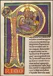 Geboorte Christus in gouden letter, Cisterciënzer Lectionarium