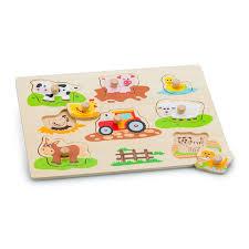 Houten puzzel boerderij