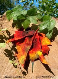 Groot herfstblad
