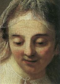 De heilige familie (detail), Rembrandt